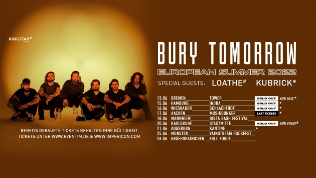 Di. 22.06.2021 Bury Tomorrow + Special Guests
